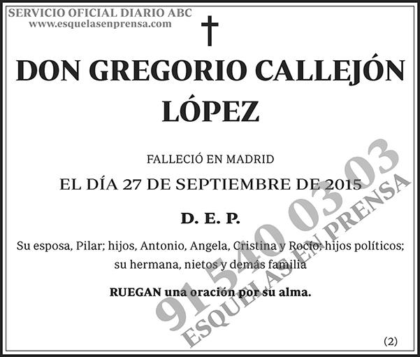 Gregorio Callejón López